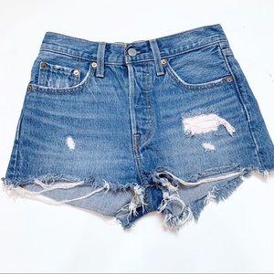 Levi's 501 Cutoff Denim Jean Shorts 24